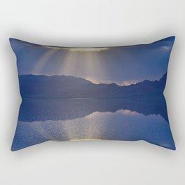 Sun over Salt Flats Rectangular Pillow