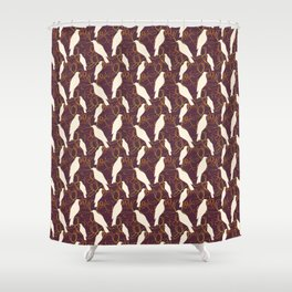 Kereru and magnolia - chocolate  Shower Curtain