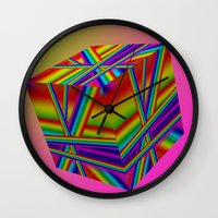 rap Wall Clocks featuring rainbow rap by Mango Katz