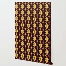 Golden Blood Abstract Pattern Wallpaper