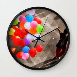 She Brings the Colours Wall Clock