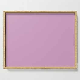 Pink bilberry color print Serving Tray