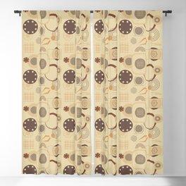 Industrial geometric design Blackout Curtain