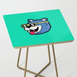 Cool Bear (portrait) Side Table