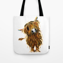 HIGHLAND CoW PRiNTS WaLL ART of Original Painting 'CoooWeee ' by SHIRLEY MACARTHUR Tote Bag