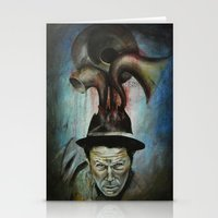 tom waits Stationery Cards featuring Tom Waits by Victoria Lavorini
