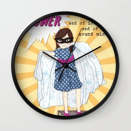 Super Girl! Wall Clock