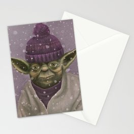 Christmas Yoda (fiolet) Stationery Cards