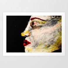 pale woman Art Print