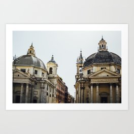 Piazza Del Popolo Rome Art Print