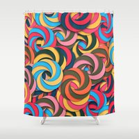 yetiland Shower Curtains featuring Keep It Healthy by Danny Ivan