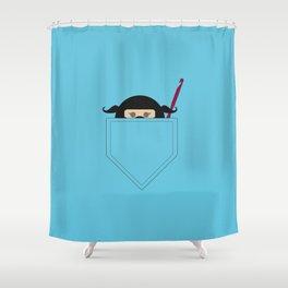 Pocket Ninja Hooker Shower Curtain
