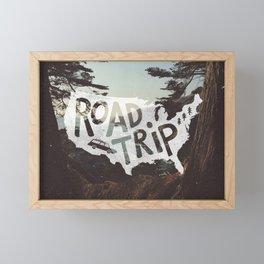 Road Trip USA - big sur Framed Mini Art Print
