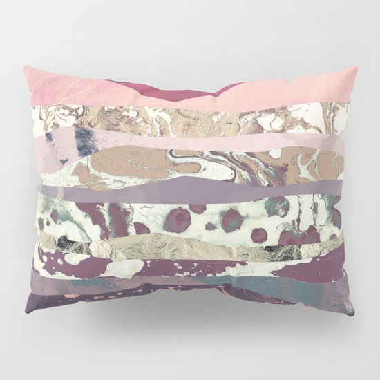 Magenta Mountain Pillow Sham