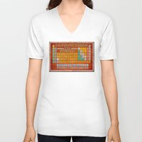 periodic table V-neck T-shirts featuring Vintage Industrial Periodic Table Of The Elements by Mark E Tisdale