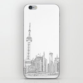 Shanghai Skyline iPhone Skin