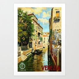 Venezia - Venice Italy Vintage Travel Kunstdrucke