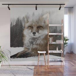 Fox Stare Wall Mural