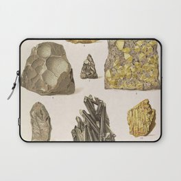 Vintage Gold Minerals Laptop Sleeve