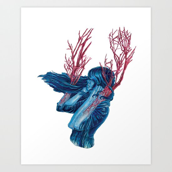 Her Arms Became Trees Art Print