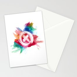 painted cross 2.0 Stationery Cards