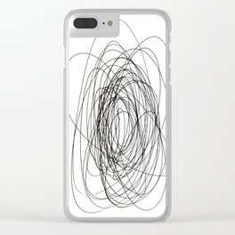 scrawl abstract drawing Clear iPhone Case