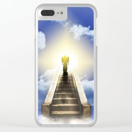 Angel On A Stairway To Heaven Clear iPhone Case