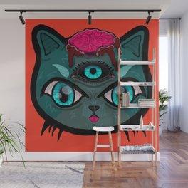 The Cat Man Wall Mural