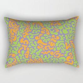 Social Networking Grape, Lime, Orange Rectangular Pillow