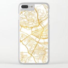 PITTSBURGH PENNSYLVANIA CITY STREET MAP ART Clear iPhone Case