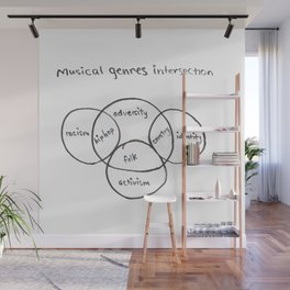 Musical genre intersections Wall Mural