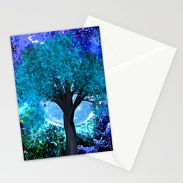 TREE MOON NEBULA DREAM Stationery Cards