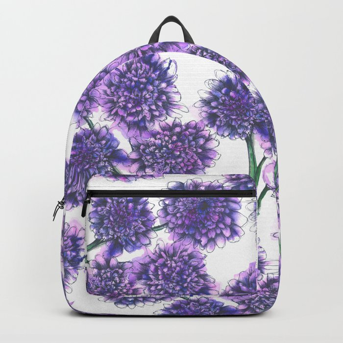Butterfly Blue Floral Pattern Backpack
