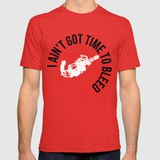 I ain't got time to bleed Red Mens Fitted Tee MEDIUM