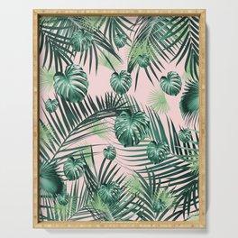 Tropical Jungle Leaves Garden #2 #tropical #decor #art #society6 Serving Tray