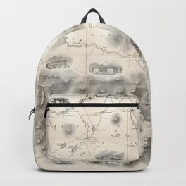 Vintage Map of The White Mountains (1864) Backpack