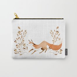 Fox in the Leaves Carry-All Pouch