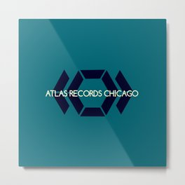 Atlas Records Chicago Metal Print