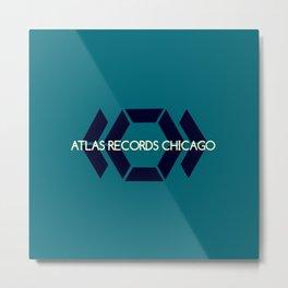 Atlas Records Chicago Metal Print