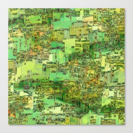 Green City on a Hill Canvas Print