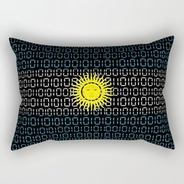 digital Flag (Argentina) Rectangular Pillow