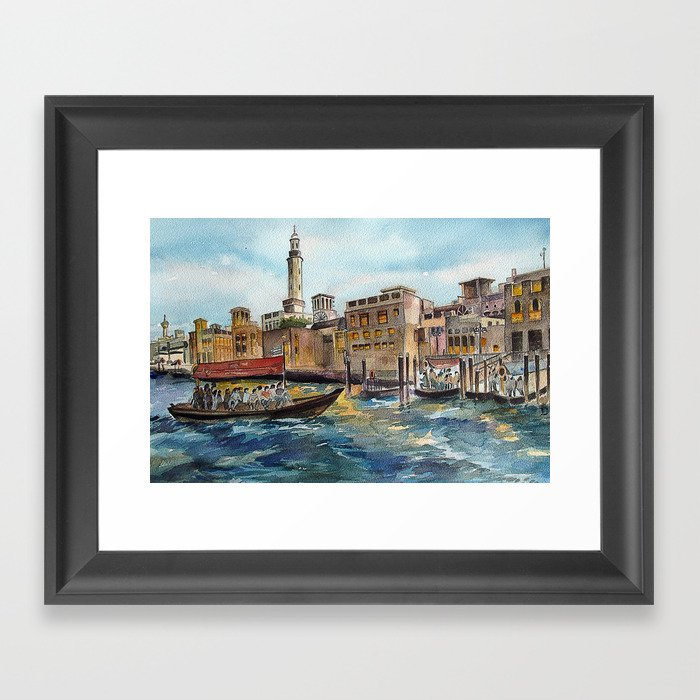 Abra Ride - Dubai Creek  Framed Art Print
