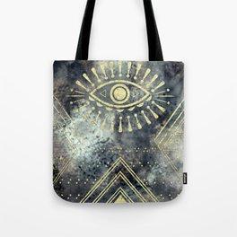 Evil Eye Gold Tote Bag