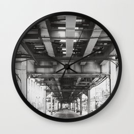 Follow the Tracks Wall Clock