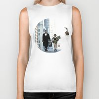 leon Biker Tanks featuring LEON, THE PROFESSIONAL by VAGABOND