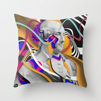 washington Throw Pillows featuring George Washington by Danny Ivan