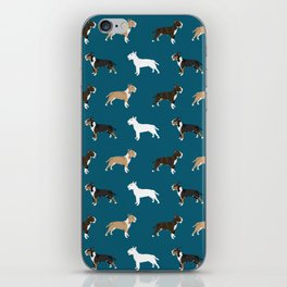 Bull Terrier dog breed cute custom pet portrait pattern all coat colors iPhone Skin