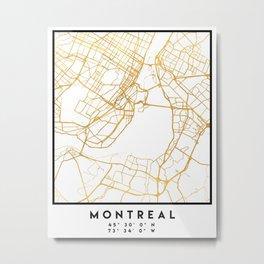 MONTREAL CANADA CITY STREET MAP ART Metal Print