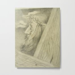 Face of Jesus 2 Metal Print