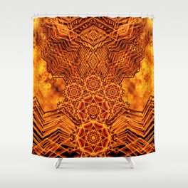 Fire Elemental Temple Shower Curtain